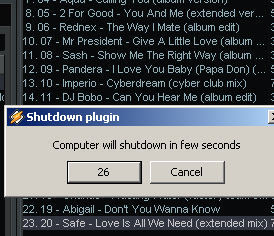 Download shutdown